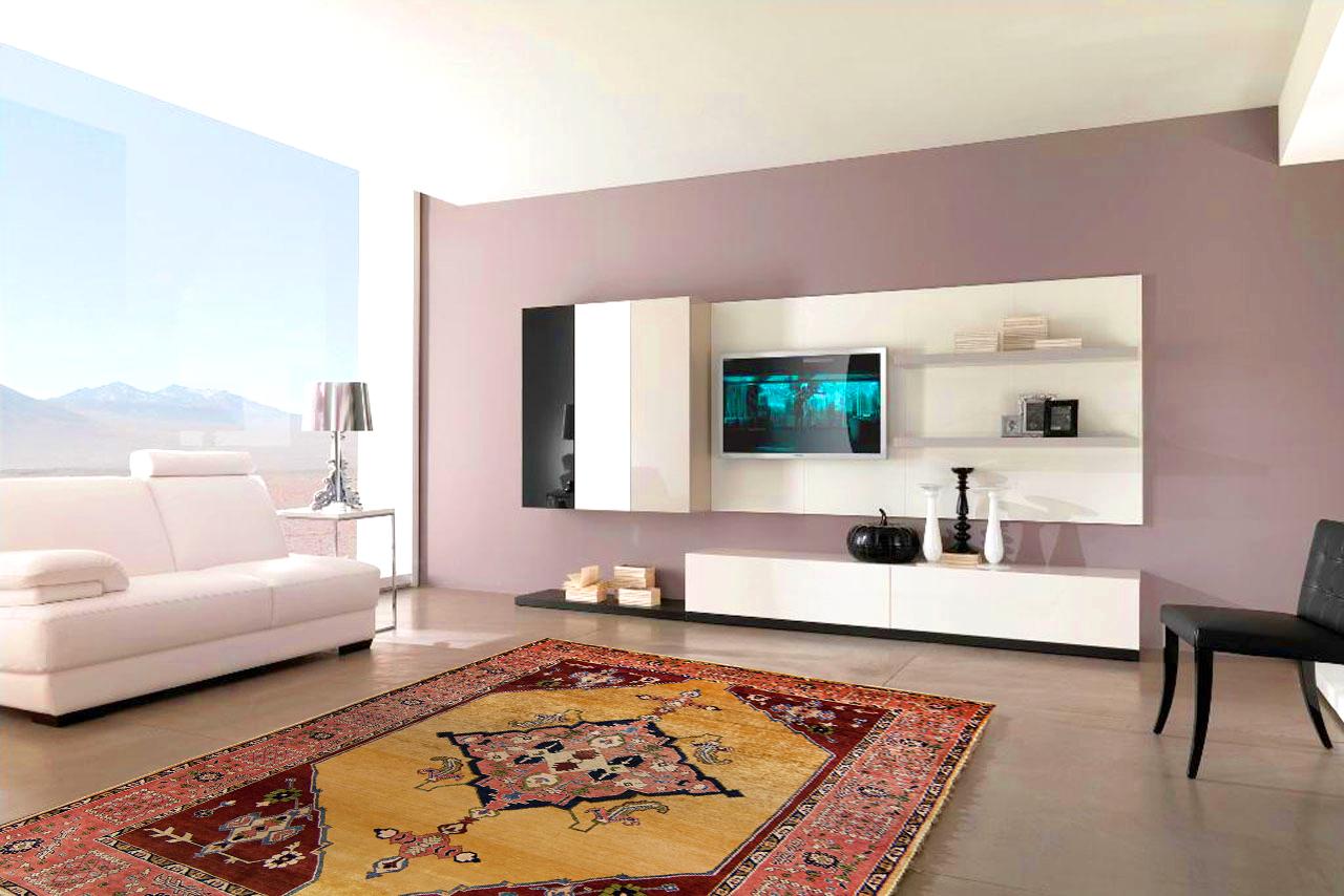 Moderne Wohnung mit Orientalischem Teppich